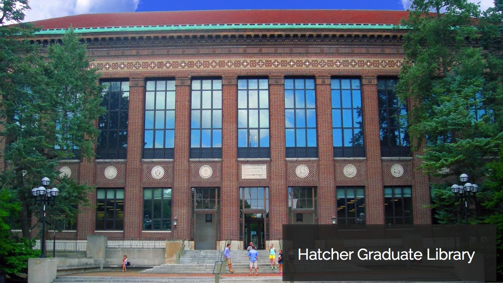 Hatcher Graduate Library photoshoped